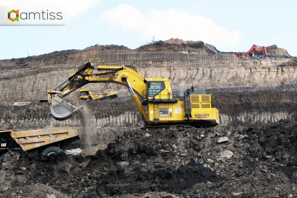 excavator beroperasi